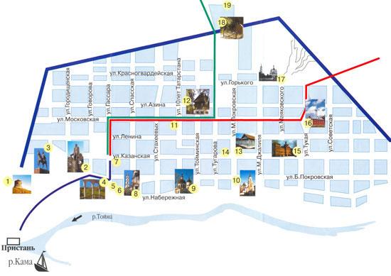 Карта-схема старой части г.